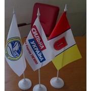 Изготовление флагов, настольных флажков фото