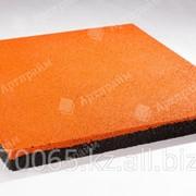 """Резиновая плитка """"Артпрайм"""" 500*500*40, Оранжевый фото"""