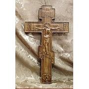 Крест резной, дубовый фото