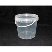 Ведро пластиковое 1л(пищевое),(прозрачное) фото