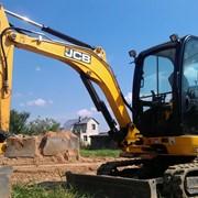 Аренда строительного мини экскаватора JCB фото