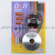 Вариатор передний тюнинг Suzuki AD100 DLH ролики латунь 9шт, палец, пружины сцепления фото