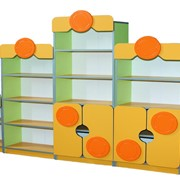 Детская стенка из 5-ти элементов, Стенка в детский сад купить, код: 4635 фото