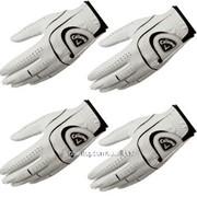 Набор из 3-х перчаток для гольфа Callaway golf gloves leather. Small (№ перчаткиГольфS) фото
