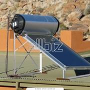 Системы солнечного нагрева воды фото