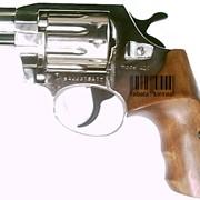 Пистолет пневматический, Револьвер ALFA 420 (никель, дерево) фото