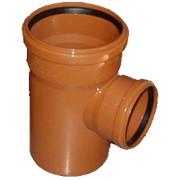Тройник 87 градусов ПВХ канализационный фото
