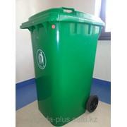 Мусорный контейнер 240л пластиковый фото