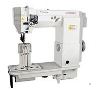 Колонковая двухигольная швейная машина фото