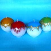 Свеча Декоративная Шар Новогодний фото