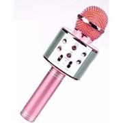 Беспроводной микрофон для караоке WS-858 (розовый) фото