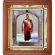 Икона аналойная Арх Михаил, риза, 17х19 фото