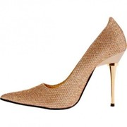 Яркие блестящие туфли на шпильке Glitzee фото