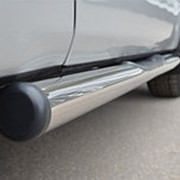 Пороги Suzuki Grand Vitara 2012 - 2015 3 дв. (вариант 2 труба с накладками 76 мм) фото