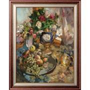 Картина Натюрморт с розами и фруктами, 1921, Коровин, Константин Алексеевич фото