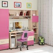 Детская комната Легенда 4 венге светлый/розовый фото