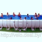 Бассейн каркасный Intex 28366 (54984) Restangular Ultra Frame Pools 732*366*132 см фото