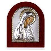 Икона Дева Мария серебряная с позолотой Silver Axion 110 х 130 мм на деревянной основе фото