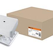 Коробка распаячная КР 100х100х29 ОП с клем. колодкой белая IP40 TDM фото
