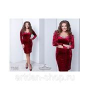 Платье бархат муар 7350 фото