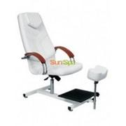 Педикюрное кресло Дино II с деревянными подлокотниками фото