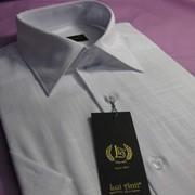 Сорочка мужская с коротким рукавом, белая фото