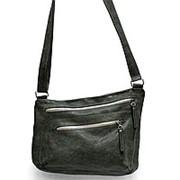 """Кожаная сумка """"Хейлин"""" (серый) фото"""