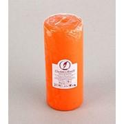 Свеча декоративная пеньковая, Оранжевая 20 см. фото