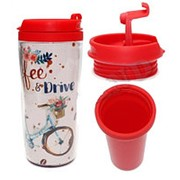 "Термокружка Miland ""Coffe/ Drive"", 350 мл., картон. уп., КП-8847 фото"