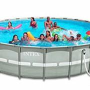 Каркасный бассейн Intex 54958 Ultra Frame Pool Set С УНИКАЛЬНЫМ ПЕСОЧНЫМ ФИЛЬТРО фото