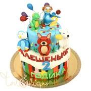 Детский торт друзья малышка №494 фото