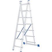 Лестница, 2 х 7 ступеней, алюминиевая, двухсекционная // СИБРТЕХ 97907 фото
