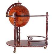 Глобус-бар с сервировочным столиком d=42 см. фото
