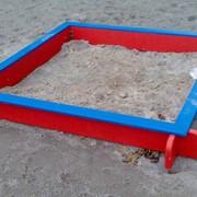 Песочница деревянная для детской площадки фото