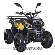 Квадроцикл подростковый MOTAX ATV Grizlik Super LUX 125 сс желтый камуфляж фото