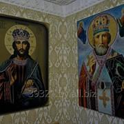 Икона Иисуса Вседержителя и Св.Николая Чудотвореца фото