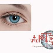 Линзы контактные меняющие цвет глаз, бирюзовые фото