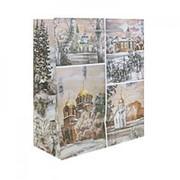 """Пакет подарочный """"Церкви"""" 18см х 21см фото"""