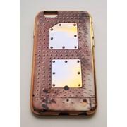 Чехол на Айфон 6/6s Силикон имитация Металла фото