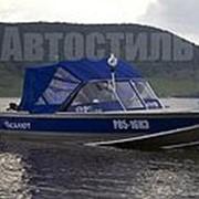 Ходовой тент с дугами на лодку Terhi 475 Twin (Стандарт) фото