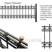 Ограда металлическая Римская 2300х2300 фото