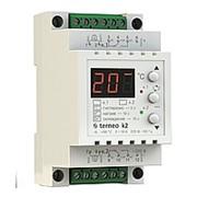Терморегулятор для теплого пола terneo k2 на DIN-рейку 2-канальный 2х16А, 9..99°С фото