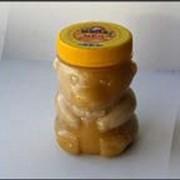 Цветочный мед ПЭТ - банка Мишка маленький 0,33л фото