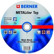 Круги обдирочные по металлу ТМ Berner ТОР 125 x 6 x 22,23, артикул 38301 фото