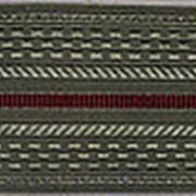 Погоны светло-оливковые с краповыми просветами (основа: КАРТОН) фото