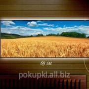 Картина с подсветкой Пшеничное поле 29x69 фото