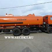 Автоцистерна АЦ-17 на шасси КамАЗ-65115 (6х4, 2 отсека, с насосом) фото