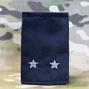 Фальшпогоны лейтенант черные вышитые серым МФ-16-08 фото