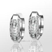 Серьги с бриллиантами E16656-3 фото