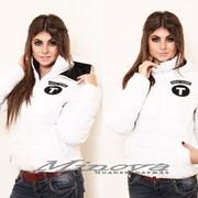 """Куртка """" NEW YORK"""" белая/черн фото"""
